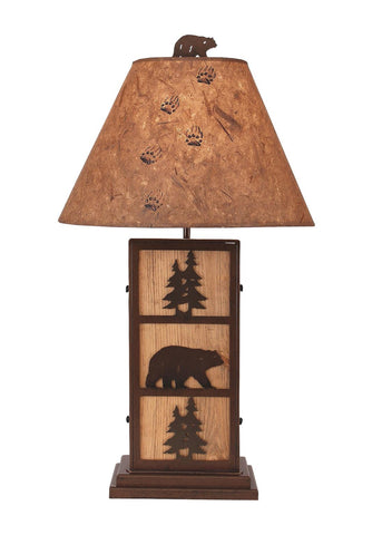 Bear and Pine Tree Design Table Lamp