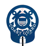 Coast Guard Design Metal Rain Gauge