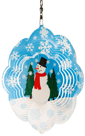 Snowman Multi Color-Design Metal Wind Spinner