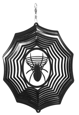 Spider Web Halloween Design Metal Wind Spinner