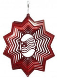American Flag Metal Wind Spinner