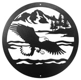 Bald Eagle Round Metal Wall Art
