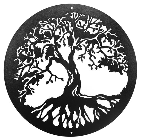 Tree Of Life Round Metal Wall Art