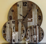 36 Inch Large Reclaimed Barnwood Wall Clock