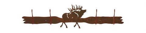 Elk Design 4 Hook Wall Coat Rack