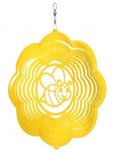 Bumble Bee Design Metal Wind Spinner