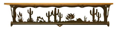 "Desert Scene 34"" Towel Bar Shelf"