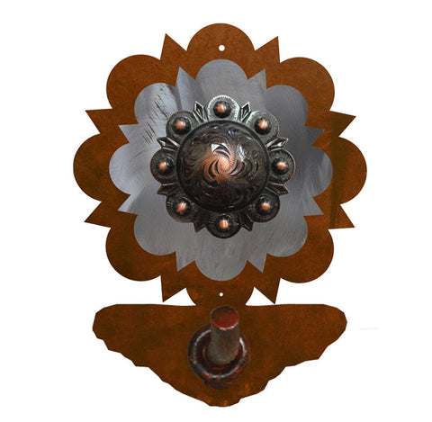 Round Copper Concho Robe Hook
