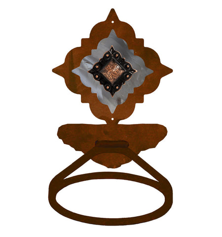 Diamond Copper Concho Towel Ring