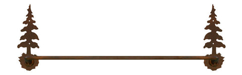 "Single Pine Tree 18"" Hand Towel Bar"