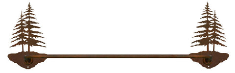 "Double Pine Tree 18"" Hand Towel Bar"