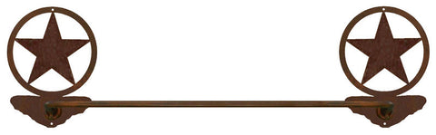 "Texas Star Design 27"" Towel Bar"