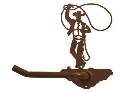 Roping Cowboy Design Tissue Holder