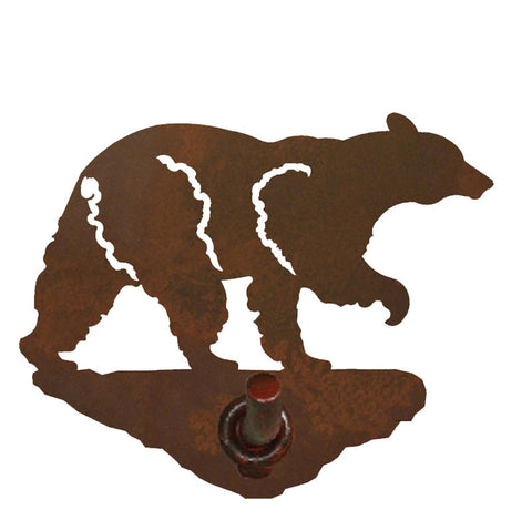 Black Bear Design Robe Hook