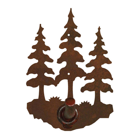 Triple Pine Tree Robe Hook