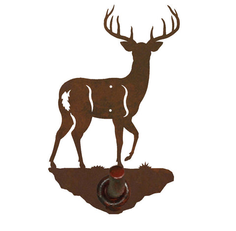 White Tail Deer Design Robe Hook