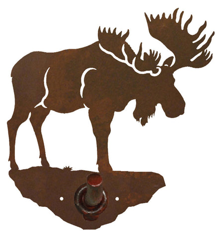 Bull Moose Design Robe Hook
