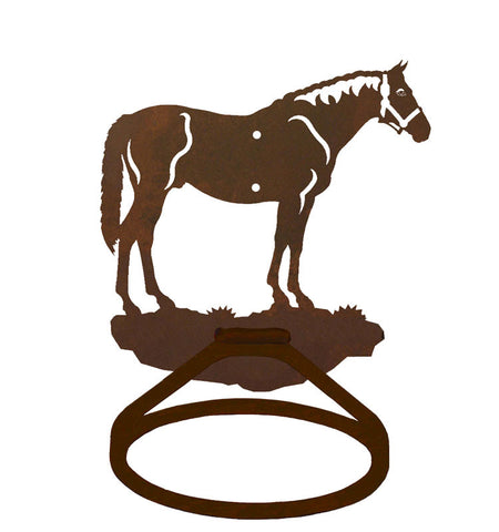 Bay Horse Towel Ring