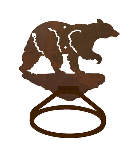 Black Bear Towel Ring