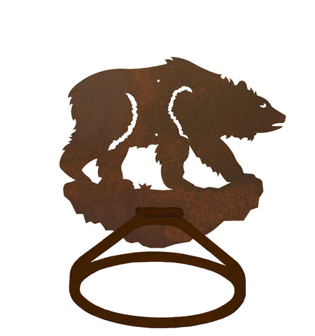 Brown Bear Towel Ring