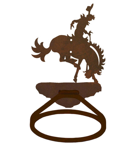 Bronc Rider Towel Ring