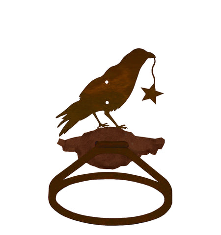 Crow with Star Towel Ring