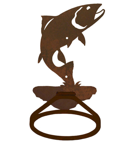 Trout Design Towel Ring