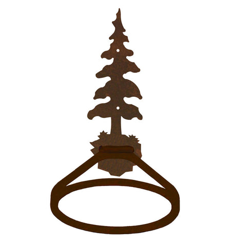 Single Pine Tree Towel Ring