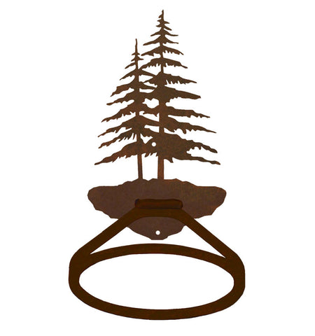 Double Pine Tree Towel Ring