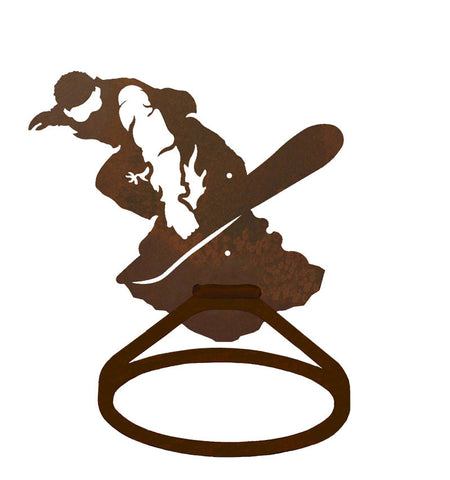 Snowboarder Towel Ring