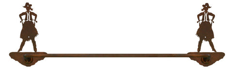 "Cowgirl Design 27"" Towel Bar"