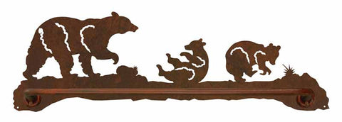 "Bear Family 27"" Scenic Towel Bar"