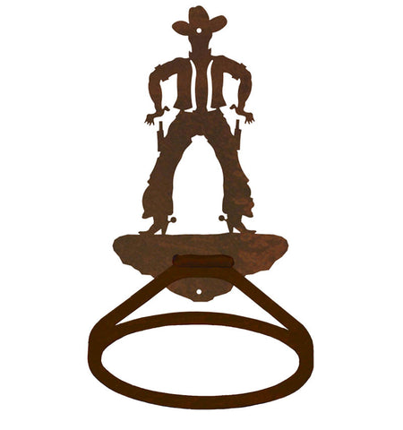 Cowboy Design Towel Ring