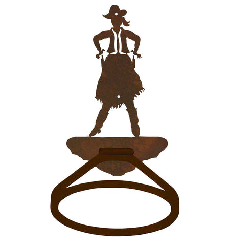 Cowgirl Design Towel Ring