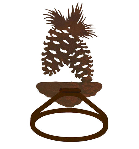 Pine Cone Tree Towel Ring