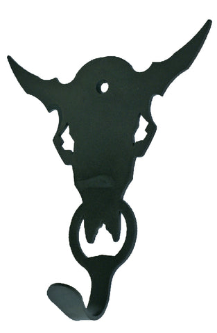 Buffalo Skull Design Single Metal Wall Hook