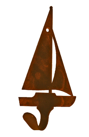 Sail Boat Design Single Metal Wall Hook