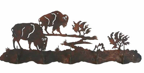 Buffalo Design 5 Hook Metal Wall Coat Rack