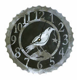 Crow Design Metal Wall Clock