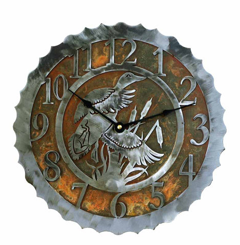 Duck / Waterfowl Design Metal Wall Clock