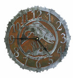 Trout Design Metal Wall Clock