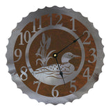 Loon Design Metal Wall Clock