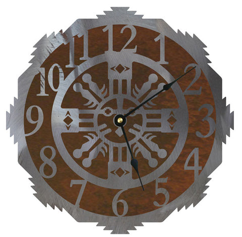 Sand Painting Design Metal Wall Clock