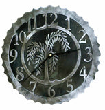 Willow Tree Design Metal Wall Clock