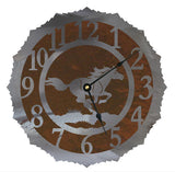Wild Horse Design Metal Wall Clock