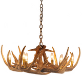 Whitetail Deer 9 Antler Reproduction Chandelier