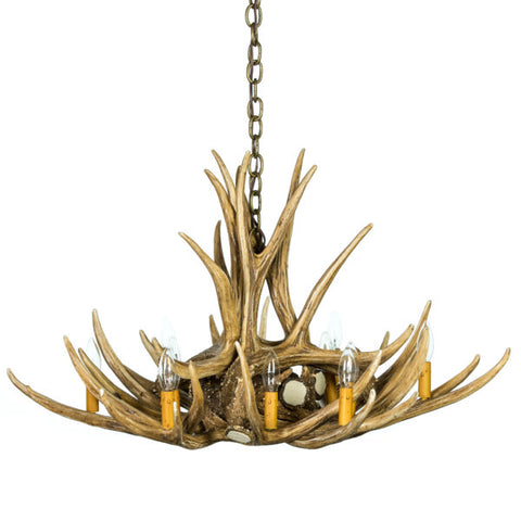 Mule Deer 9 Antler Reproduction Chandelier