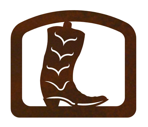 Cowboy Boot Metal Napkin Holder