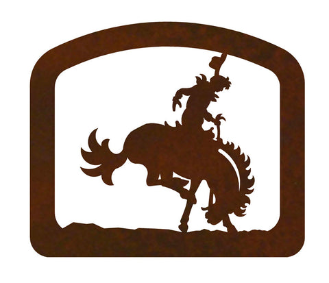 Bucking Bronc Metal Napkin Holder
