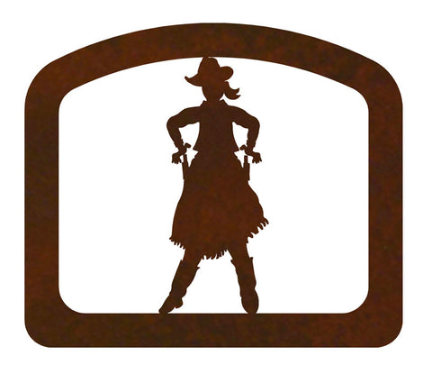 Cowgirl Metal Napkin Holder